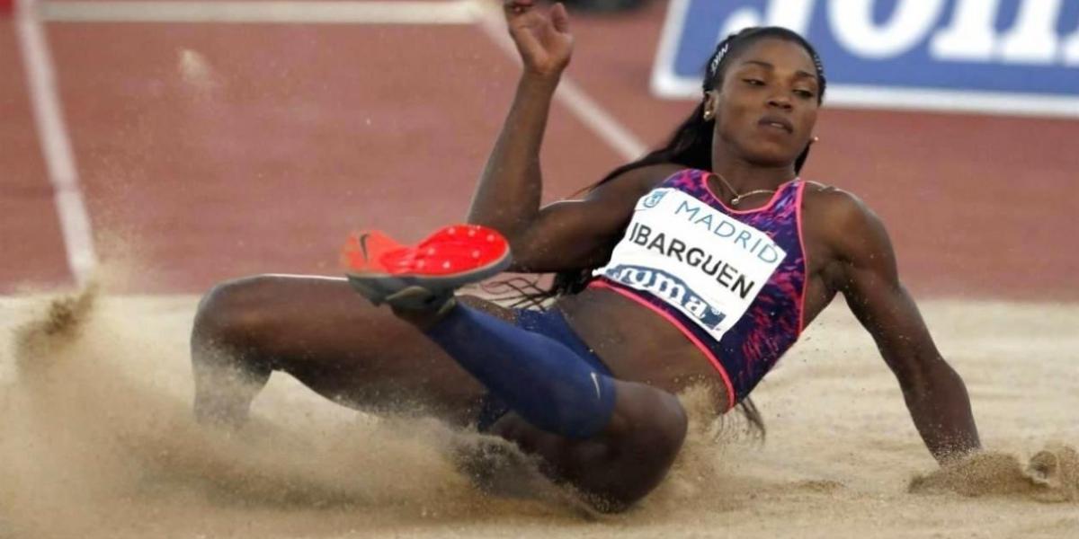 Caterine Ibargüen, atleta colombiana.