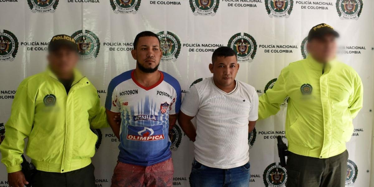 Presuntos miembros de 'Los Kamikases', capturados en Fundación.