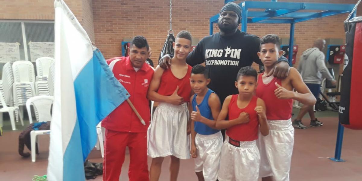 Boxeadores del departamento que obtuvieron medallas.