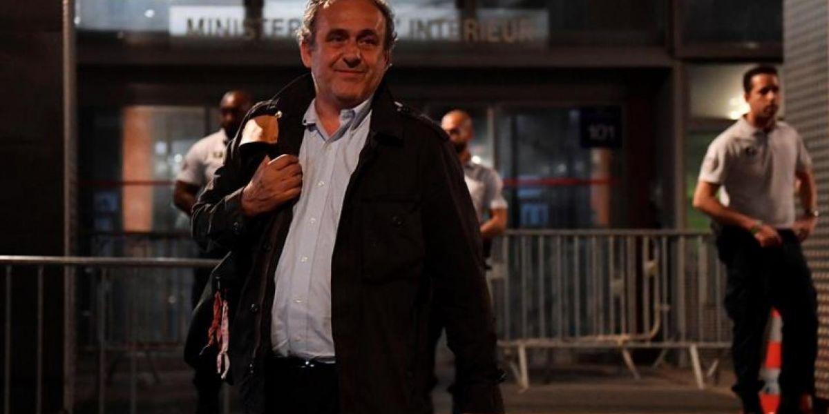Michel Platini, en libertad tras 15 horas detenido y en interrogatorio.
