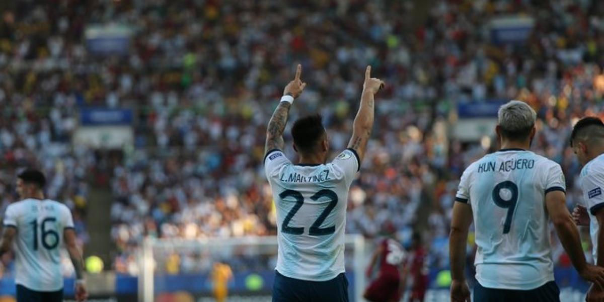 Lautaro Martínez a los 10 minutos abrió el camino.