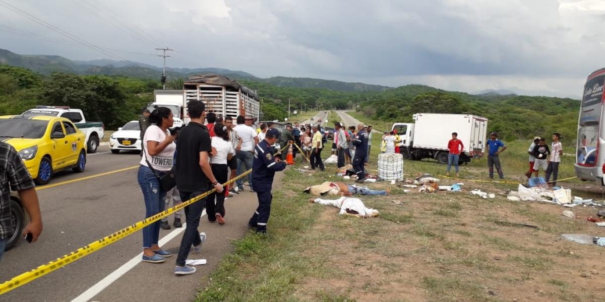 Cinco personas murieron en el siniestro vial.