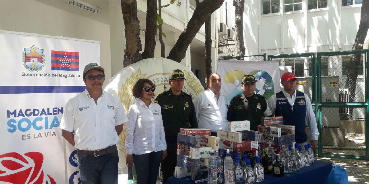 La campaña se realiza gracias a una alianza entre Gobernación, Federación Nacional de Departamentos, Policía Fiscal y Aduanera y Policía Metropolitana de Santa Marta.