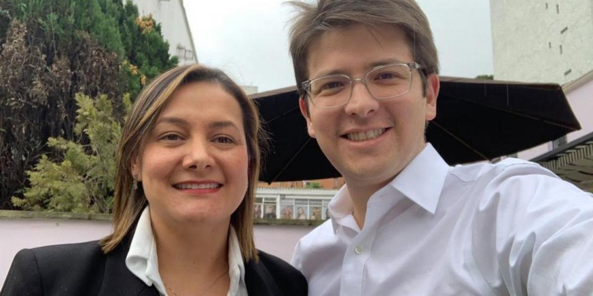 Ángela Garzón y Miguel Uribe, precandidatos a la Alcaldía de Bogotá.