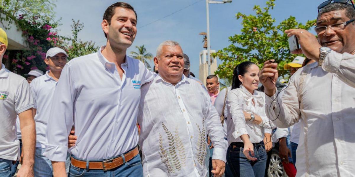 Luis Miguel Cotes y Luis Alberto Tete Samper.