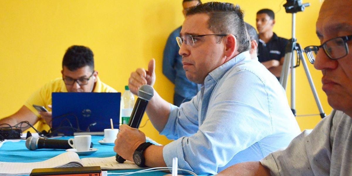 Rafael Martínez presidió el miércoles consejo de gobierno con su nuevo gabinete.