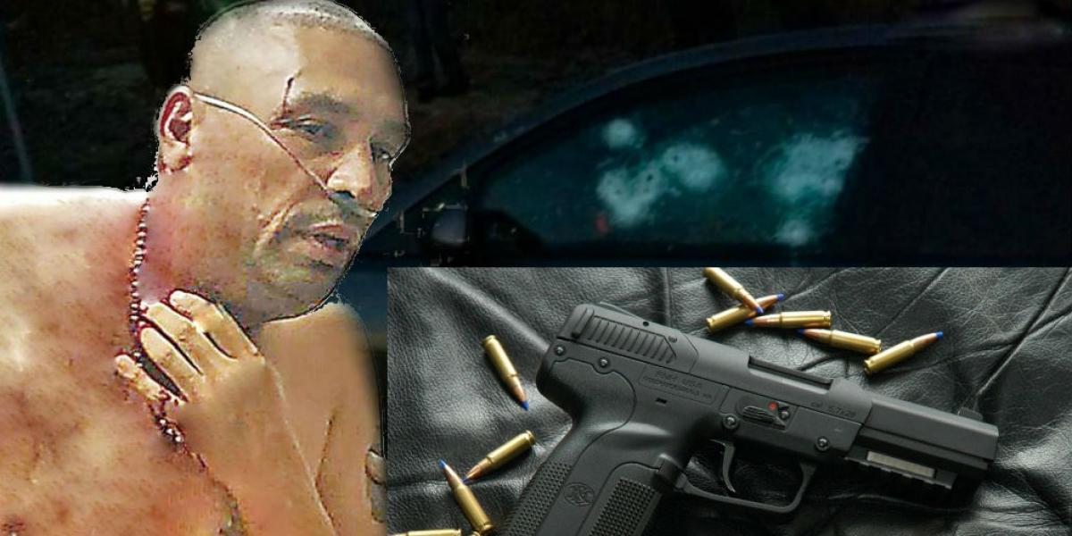 Los sicarios utilizaron una pistola Five seveN, conocida como la 'mata policías' para  perforar el grueso cristal de un vehículo Mazda blindado.