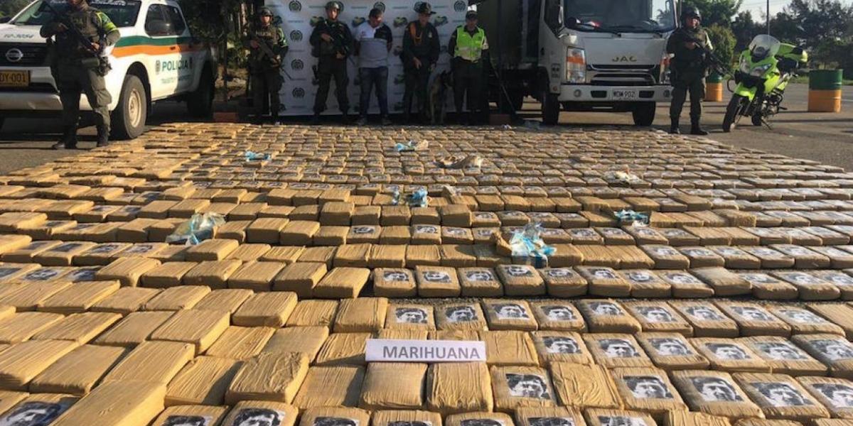 Marihuana incautada en el Cauca.