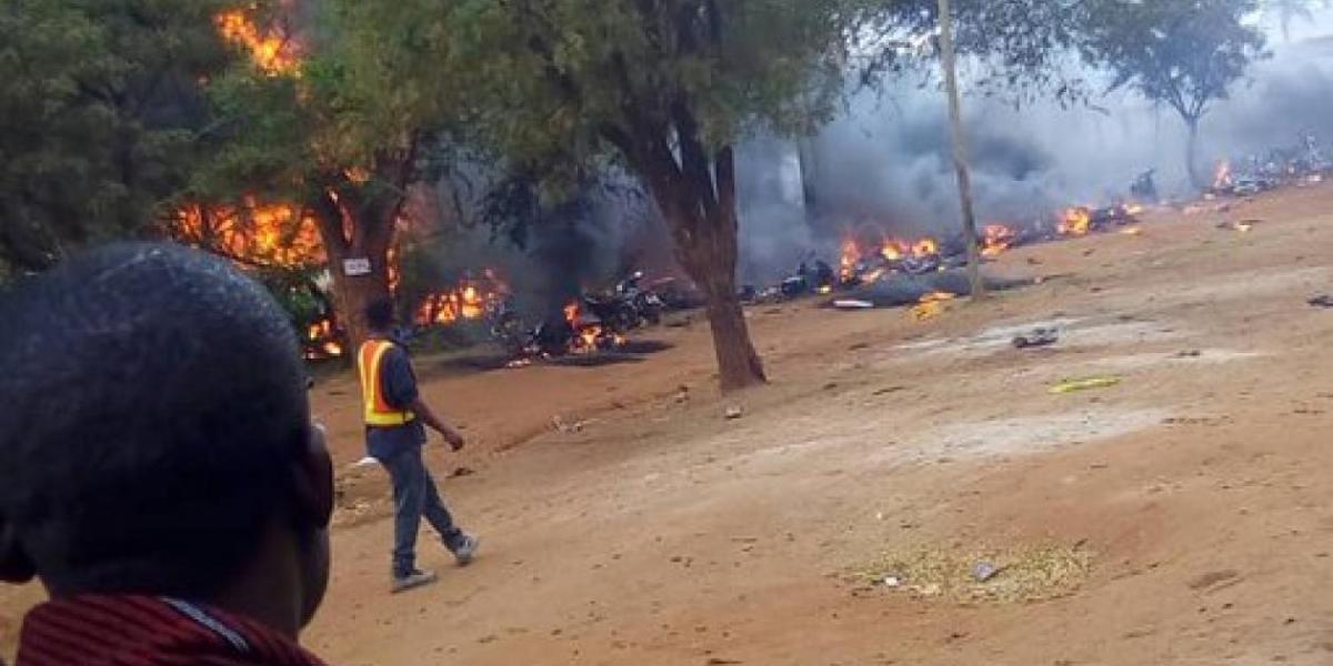 Explosión de camión cisterna en Tanzania.