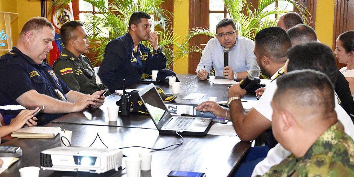 El alcalde Rafael Martínez presidió un comité de gestión del riesgo.