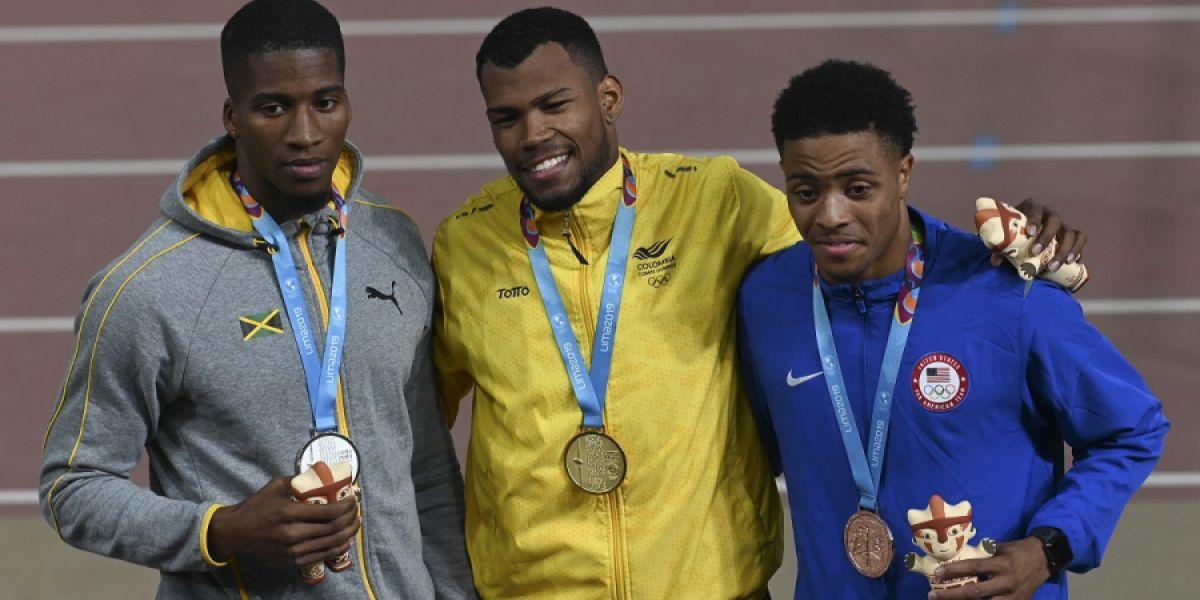 Anthony Zambrano, medallista de oro de Colombia en atletismo.