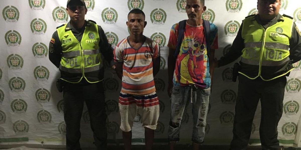 Los capturados por el delito de hurto.
