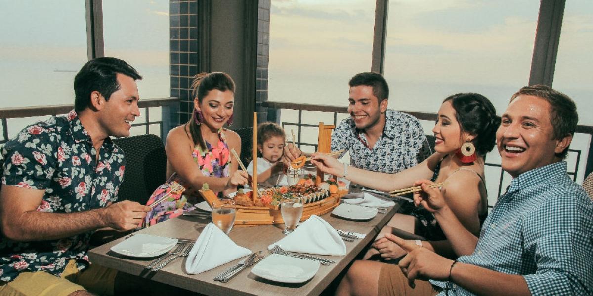 Los almuerzos se pueden disfrutar en el Bar Ziruma del Hotel Zuana.