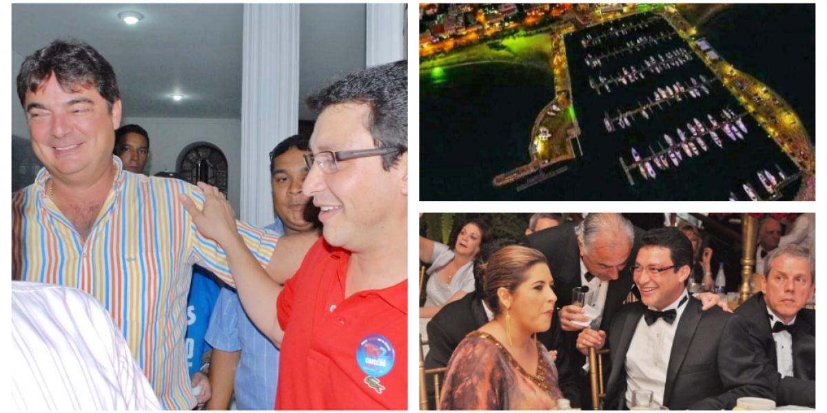 Las fotos publicadas por Díaz Granados muestran a Carlos Caicedo unido al poder económico de Daabon, el cual criticó.