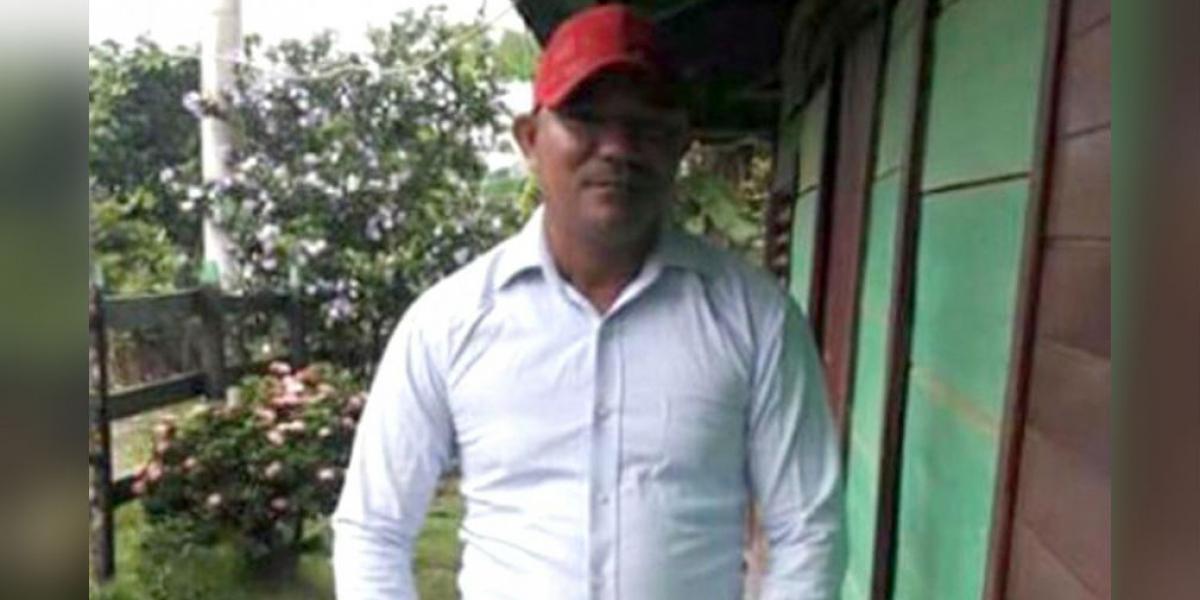 Luis Arturo Royet Franco, líder comunal asesinado.