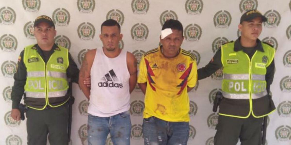 Los venezolanos fueron capturados en flagrancia.