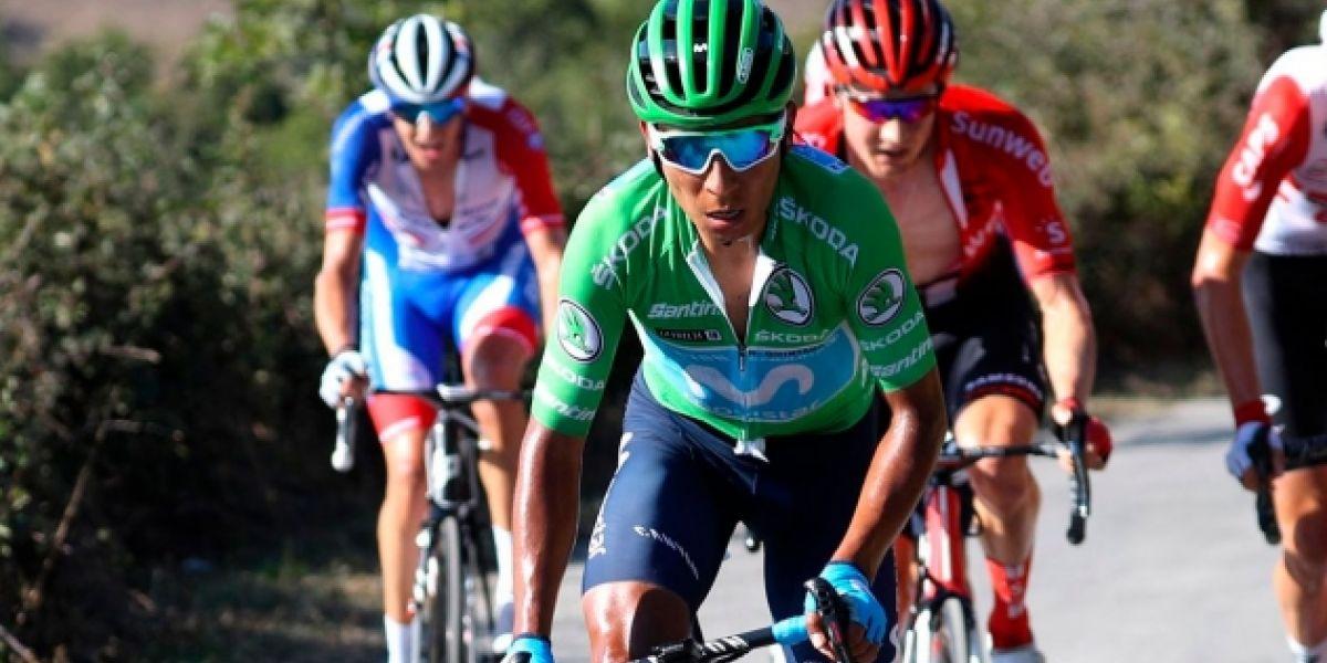 El ciclista colombiano recortó cerca de cinco minutos su diferencia con el actual líder de la vuelta.