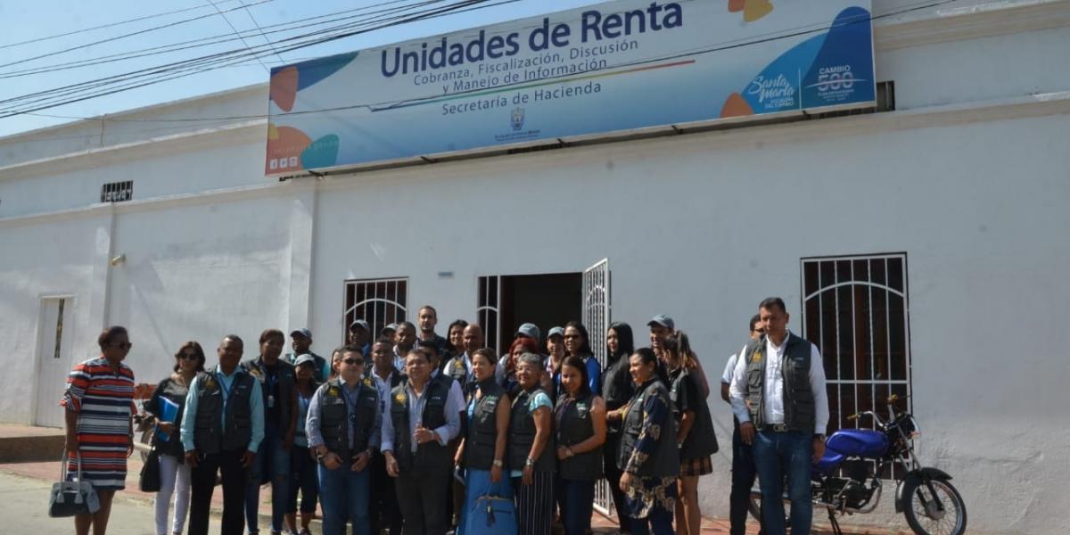 La Unidad de Rentas está ubicada en el barrio La Esperanza.