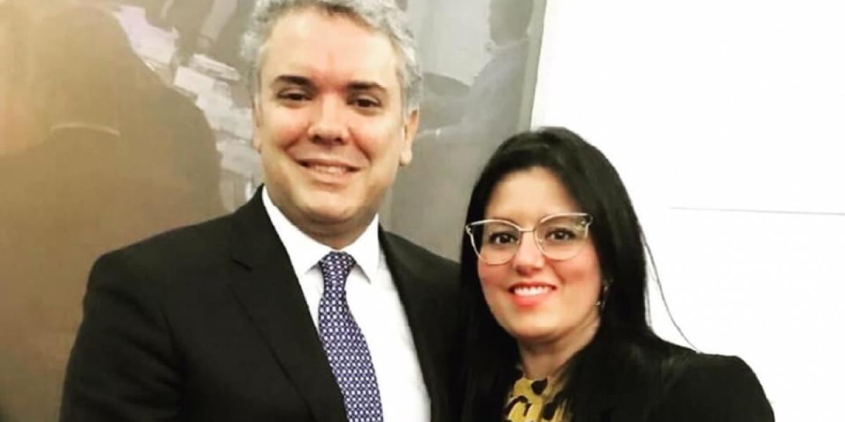 Iván Duque y Claudia Bustamante.