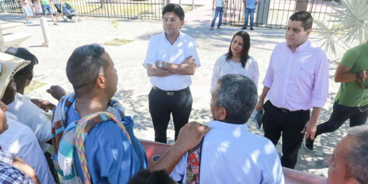 Líderes reclamantes de tierras de Sabanas de San Ángel.