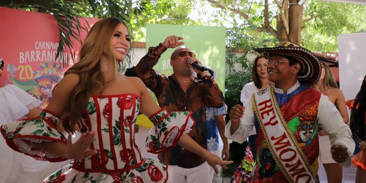 La Reina del Carnaval y el Rey Momo.