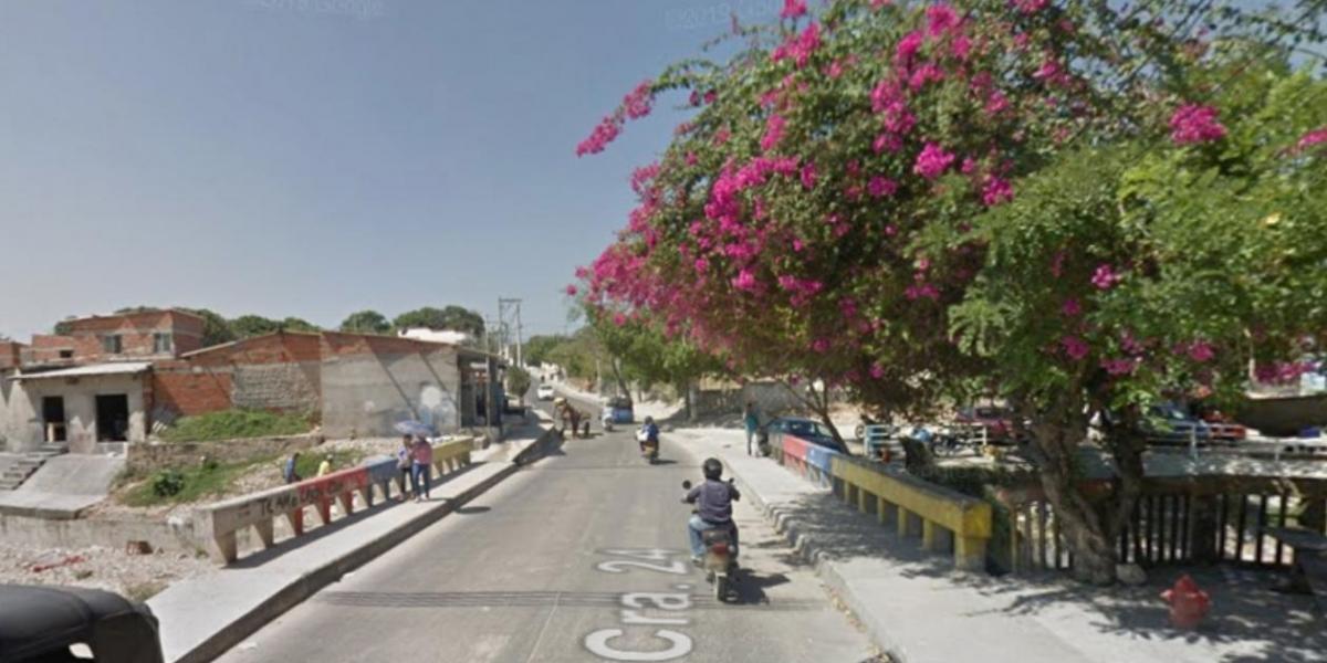Sector de la carrera 24 con calle 57, donde ocurrió el atentado sicarial.