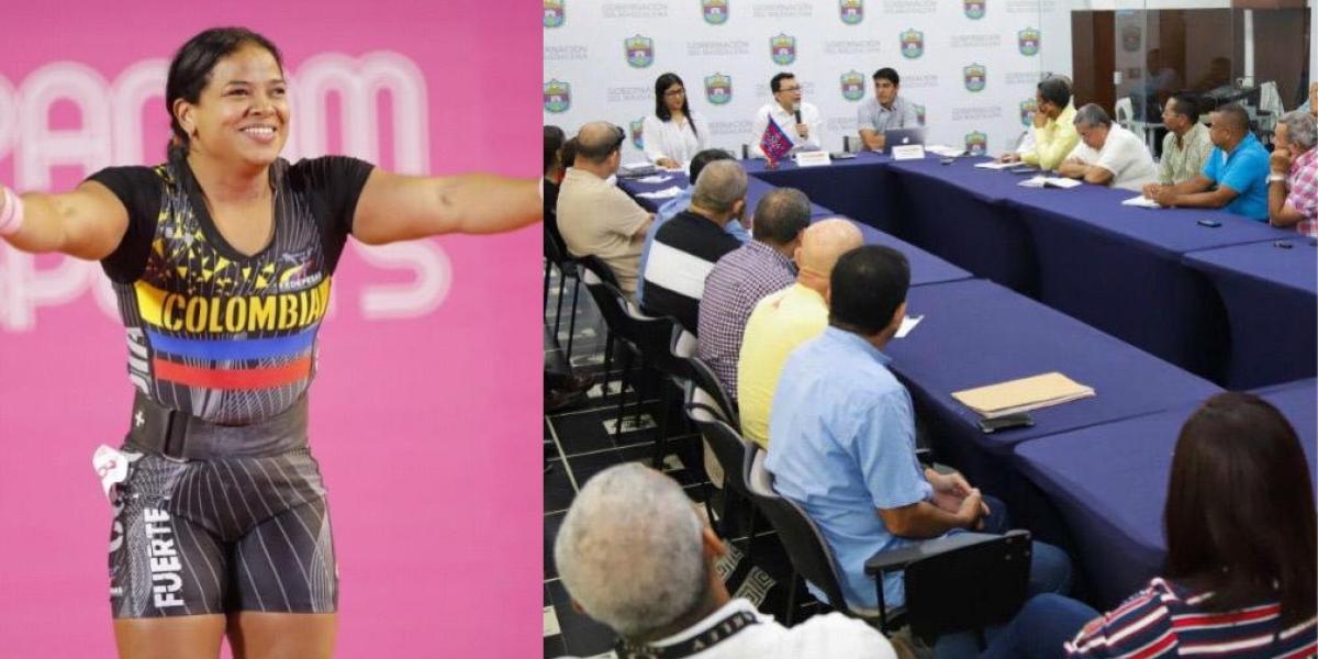 El Gobernador se reunió con presidentes de las ligas deportivas del Magdalena.
