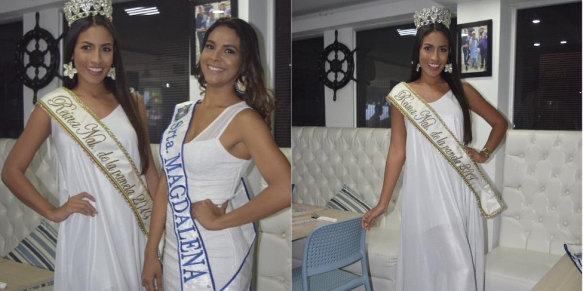 La Reina Nacional de la Panela, Angélica Castiblanco y la representante del departamento del Magdalena, Karen Gutiérrez,