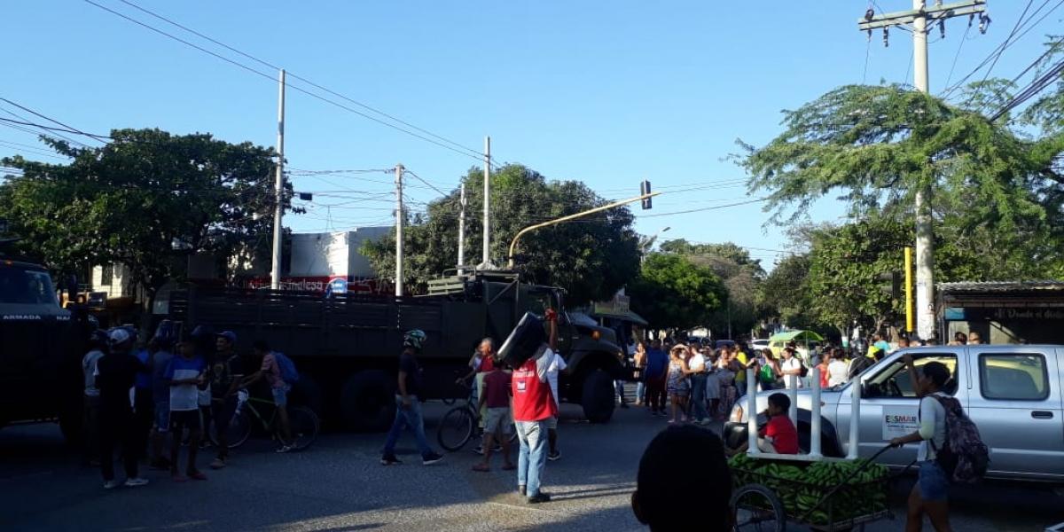 Protesta en El Pando