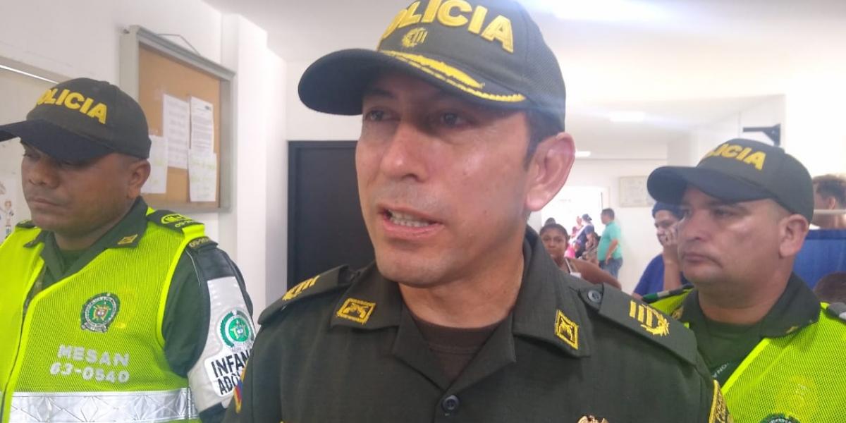 El comandante de la Policía Metropolitana de Santa Marta, coronel Gustavo Berdugo.