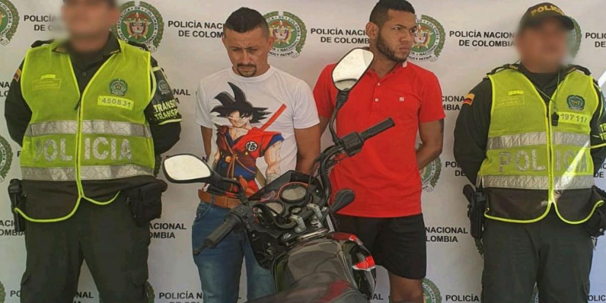 Geovanny Carmona Velásquez y Gilberto Correa Babilonia.