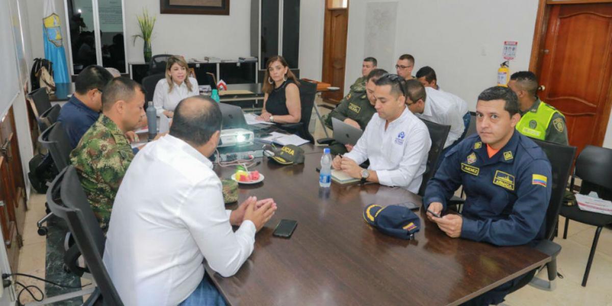 Consejo de Seguridad realizado en la Alcaldía.