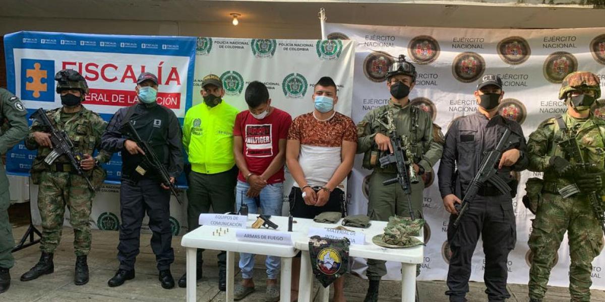 Breiner Orlando Daza Daza, alias Chuky, y Sebastián Mestizo Daza, alias Sebastián.