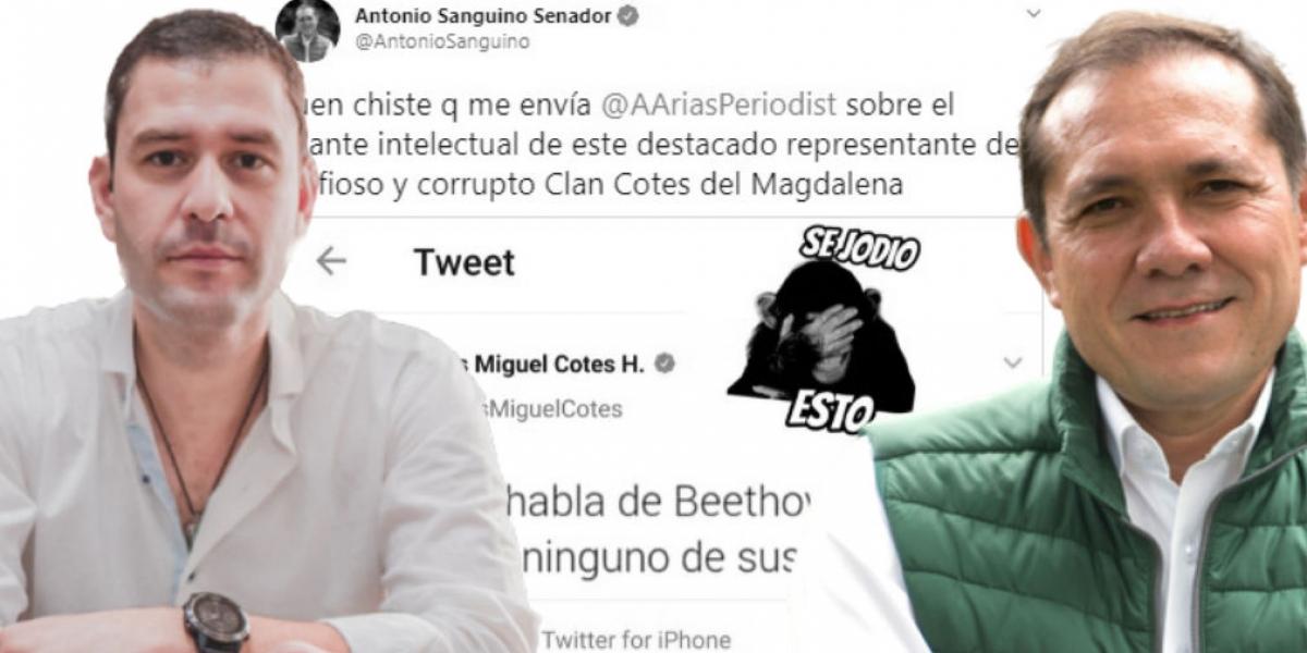Luis Miguel Cotes le respondió al senador Antonio Sanguino.