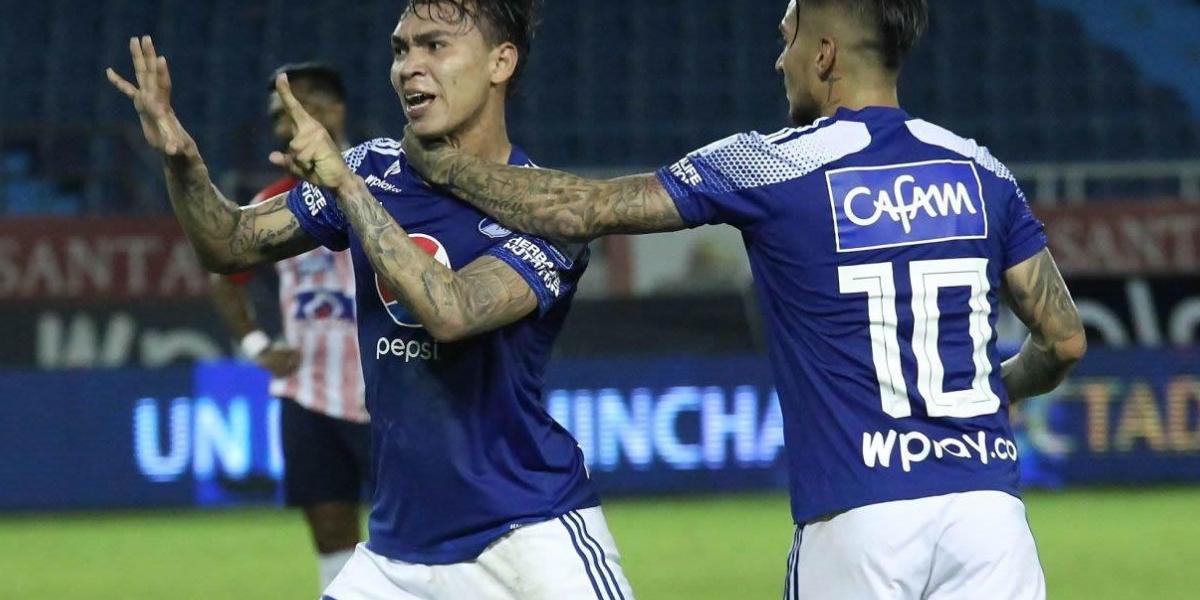 El delantero samario aportó en el empate de Millonarios frente a Junior.