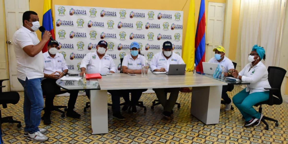 En el Comité de Justicia Transicional participaron miembros de la fuerza pública y autoridades civiles para informar sobre la situación del orden público en el municipio.