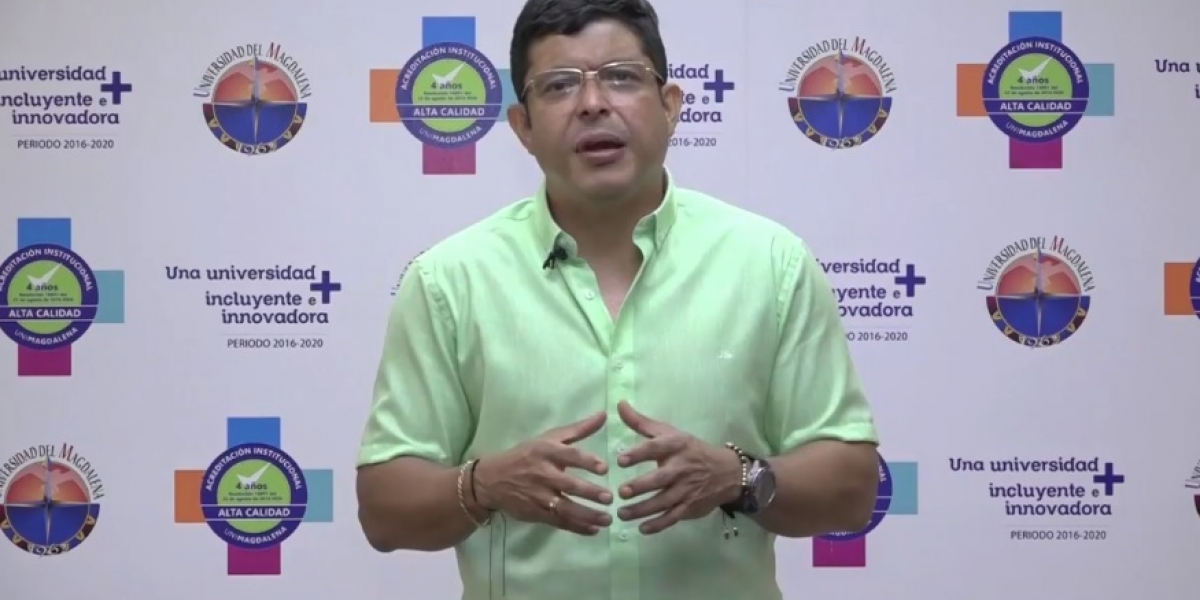 Pablo Vera Salazar, rector de la Unimagdalena.