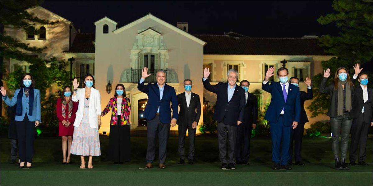 El Presidente Duque y Sebastián Piñera, de Chile, se reunieron.