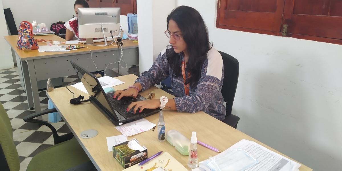 Personal de la Secretaría de Cultura viene dando asesorías virtuales.
