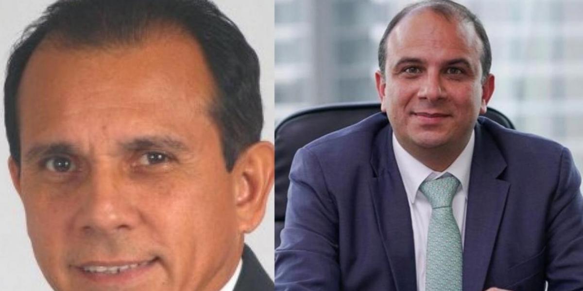 Carlos Julio Manzano y el Defensor Carlos Camargo.