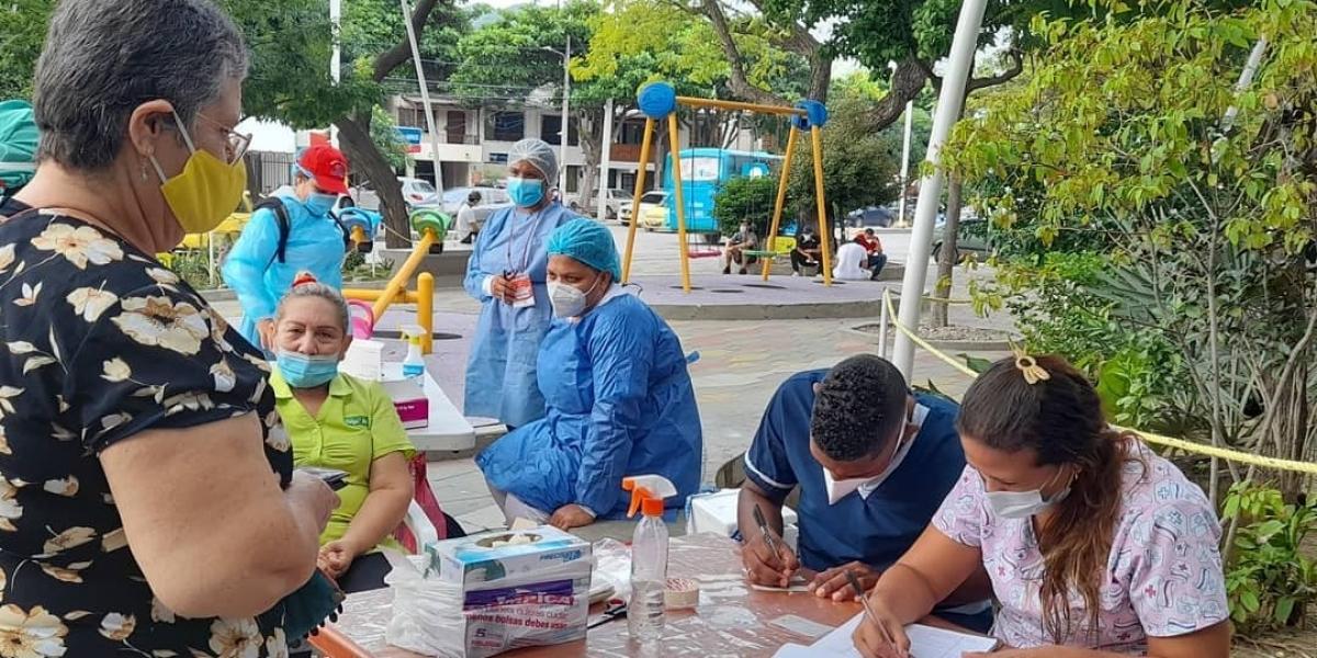 Jornada de salud en el barrio San Pablo.