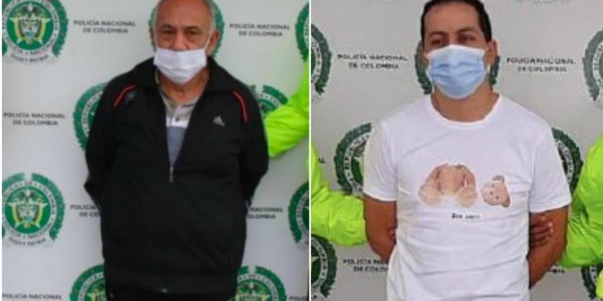 Guillermo Salazar Cruz, alias 'Tío', y Héctor Alfonso Martín Gordon, alias 'Repollito'.