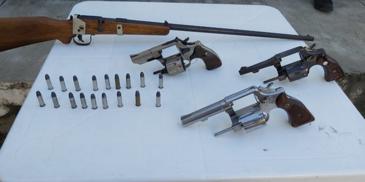 Estas fueron las armas incautadas.