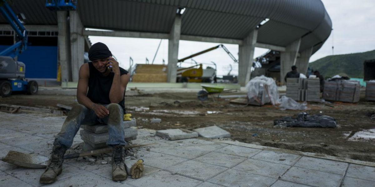 Foto del estadio Sierra Nevada tomada 24 horas antes de su inauguración en los Juegos Bolivarianos.