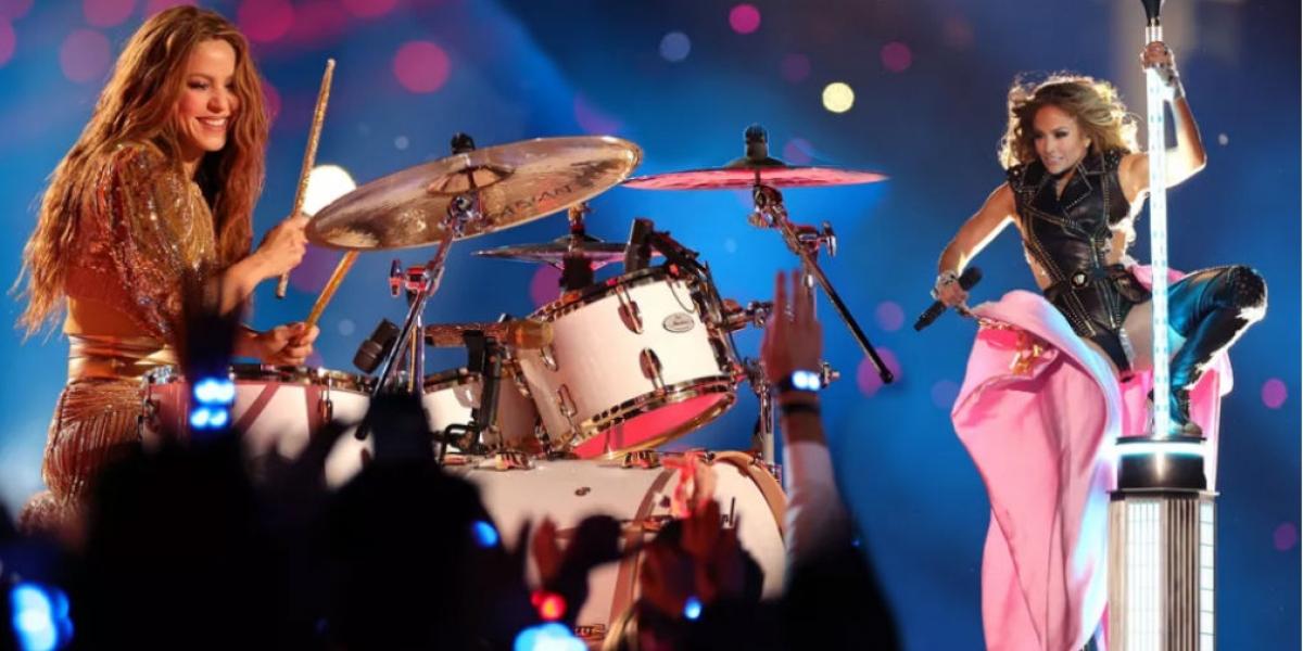 Shakira y JLo en el Super Bowl.