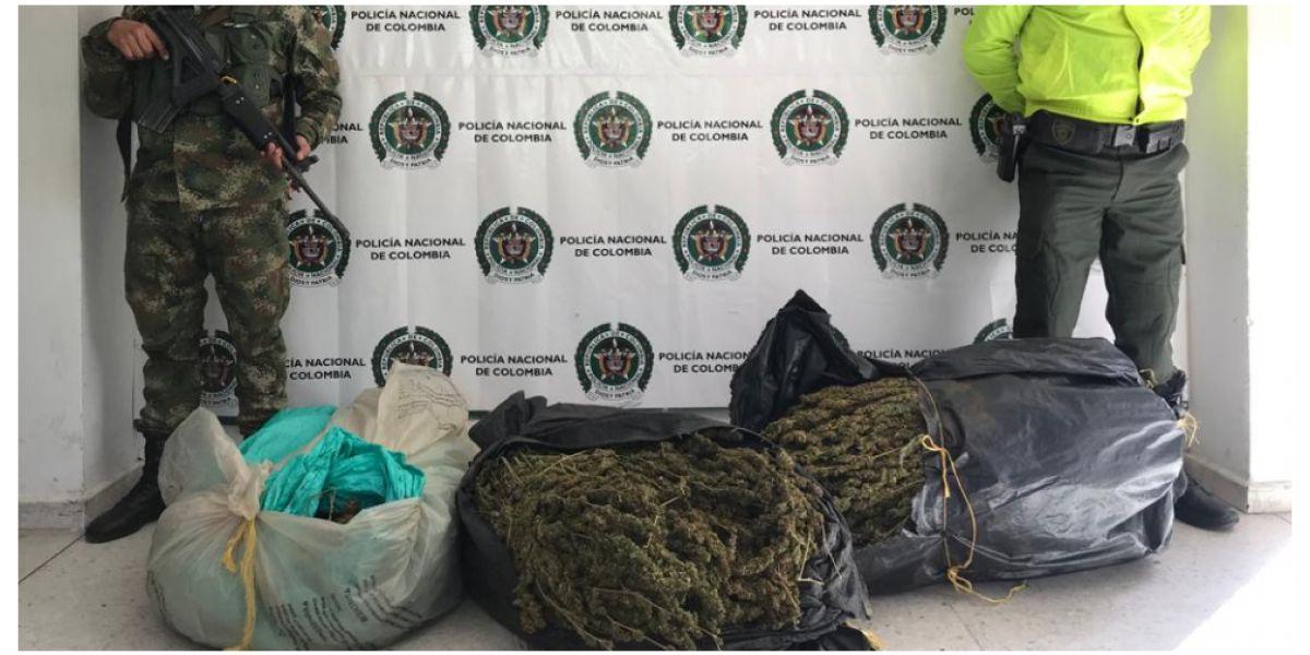 La droga, según la Policía, está avaluada en cerca de 25 millones de pesos.