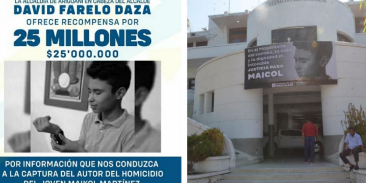 La recompensa por información sobre el asesinato del 'pequeño' Maikol pasó de 10 millones a 20 millones.