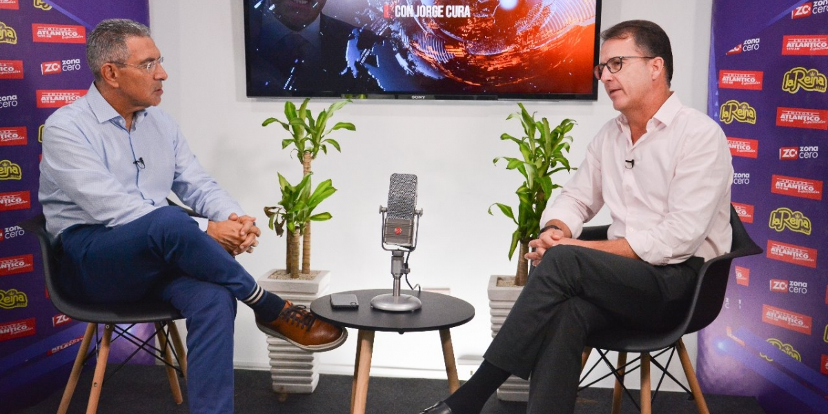 Jorge Cura con René Puche en La Entrevista.