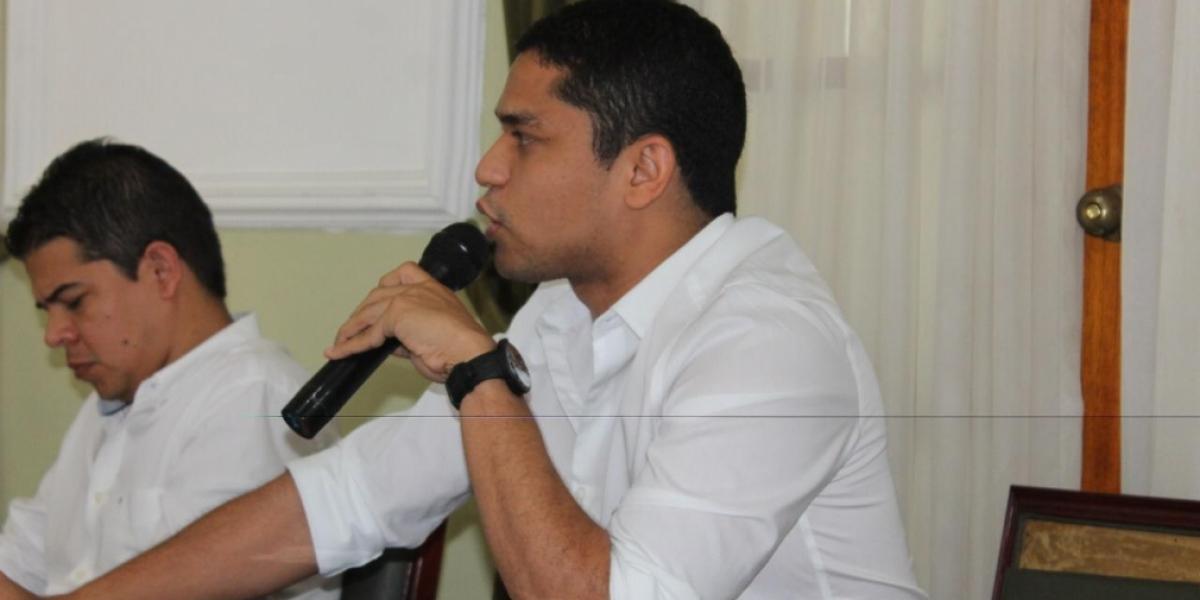 Jair Mejía, diputado de la Asamblea del Magdalena.