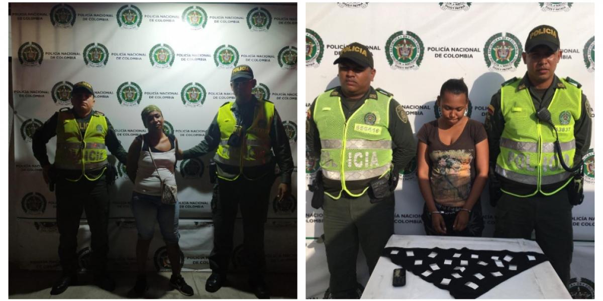 En las últimas horas la Policía Metropolitana de Santa Marta capturó a dos mujeres en distintos procedimientos.